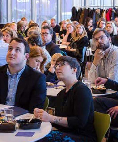 Ljósmynd frá EdX kynningu í Háskóla Íslands, nóvember 2017
