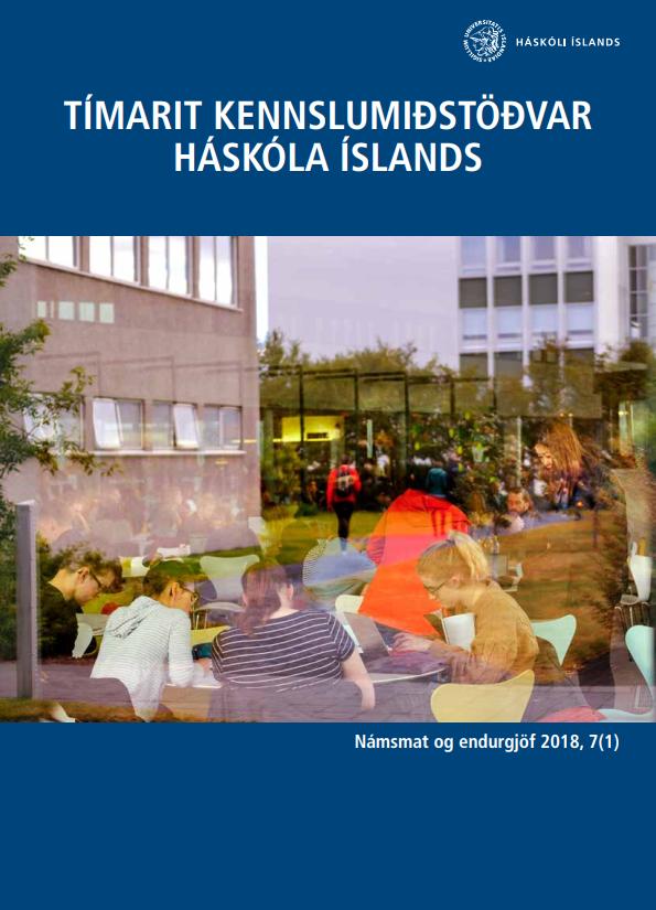 Forsíða Tímarits Kennslumiðstöðvar Háskóla íslands árið 2019, 7. árgang, 1. tölublaðs