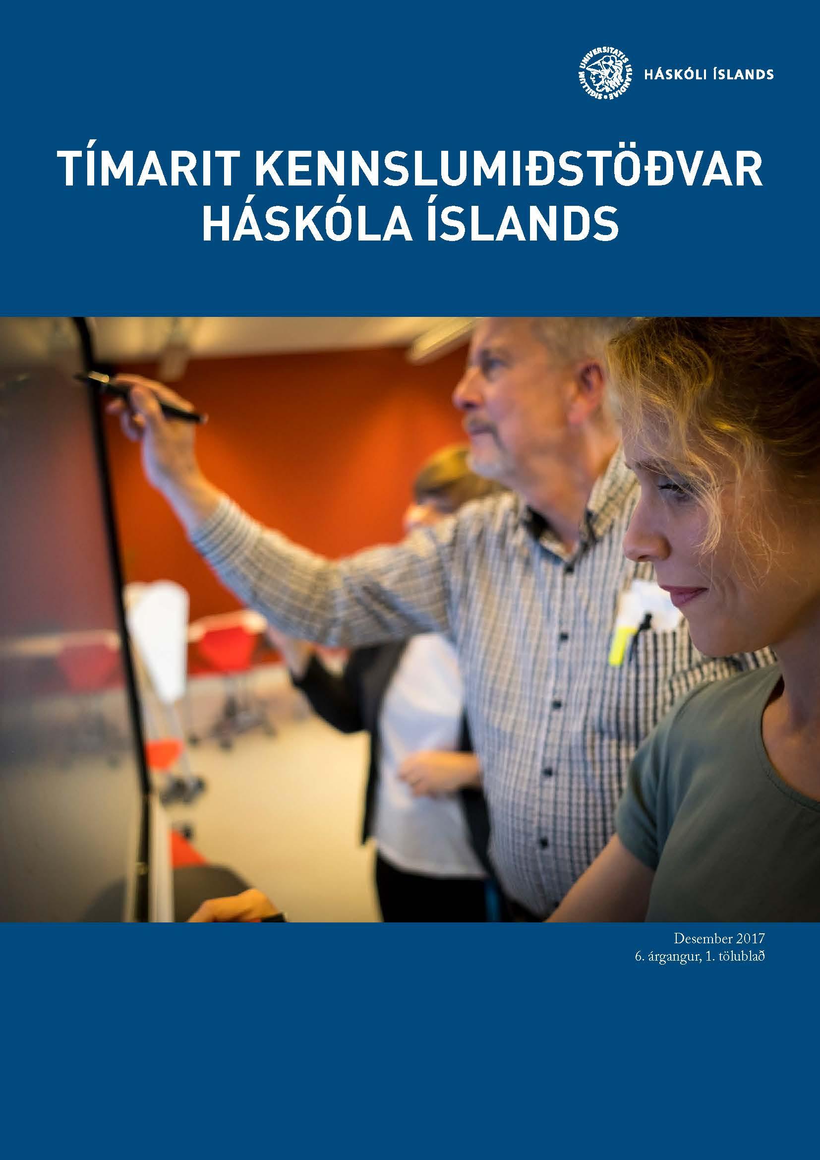 Forsíða Tímarits Kennslumiðstöðvar Háskóla íslands árið 2017