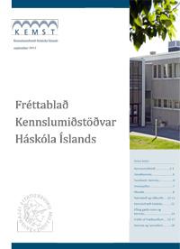 Forsíða Fréttablaðs Kennslumiðstöðvar Háskóla Íslands, árið 2012, 1. árgangur, 1. tölublað