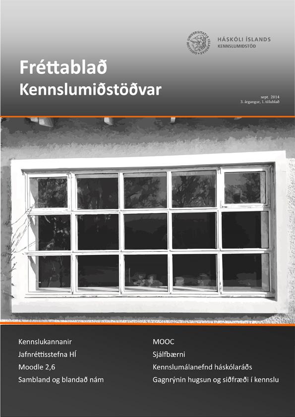 Mynd af forsíðu Fréttablaðs Kennslumiðstöðvar árið 2014, 3. árgangs, 1. tölublaðs